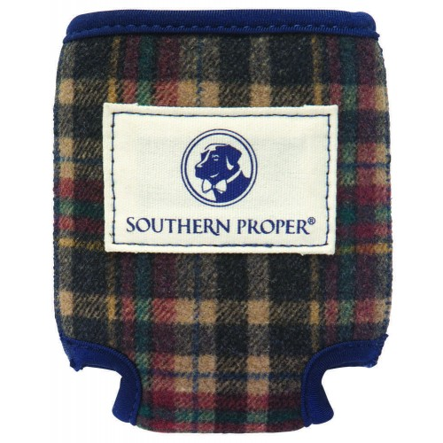 Brown Plaid Coozie
